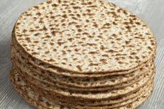 Pile of fresh matzah Royalty Free Stock Image