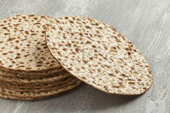 Pile of fresh matzah Stock Images