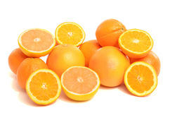 Pile of fresh organic oranges and grapefruits. Royalty Free Stock Photography