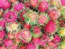 Pile of Fresh Rambutans. Background Stock Image