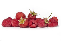 Pile of fresh raspberry. Pile of raspberry isolated on a white background Royalty Free Stock Photos