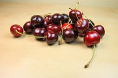Pile of fresh Ripe Cherries Stock Photo