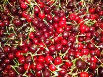 Pile of fresh ripe cherries stock photo