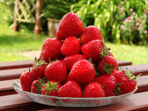 Pile of fresh ripe strawberries Stock Photo