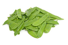 Pile of fresh snow peas Royalty Free Stock Photography