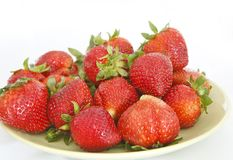Pile of fresh strawberries Royalty Free Stock Photography