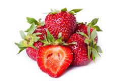 Pile of fresh strawberries Stock Photo