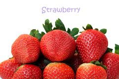 A pile of fresh strawberry Stock Photos