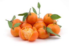 Pile of fresh tangerines Royalty Free Stock Photos