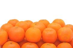 Pile of fresh tangerines, isolated Stock Photo