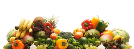A pile of fresh and tasty fruits and vegetables Royalty Free Stock Image