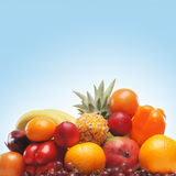 Pile of fresh and tasty fruits and vegetables Royalty Free Stock Images
