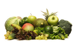 A pile of fresh and tasty green vegetables Royalty Free Stock Images