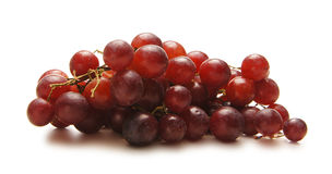 A pile of fresh and tasty purple grapes Royalty Free Stock Photos