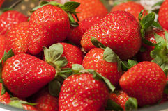 A pile of fresh trawberry.  Stock Image