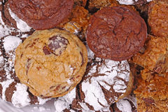 Pile of freshly baked, home-made cookies Royalty Free Stock Photo