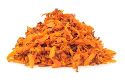 Fried grated carrots isolated Royalty Free Stock Photos