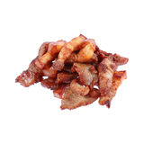 pile of fried pork isolated on white Stock Photography