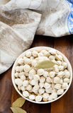 Pile of frozen mini pelmeni on a bowl Royalty Free Stock Image