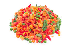 Pile of frozen vegetables Stock Photo