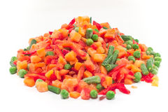 Pile of frozen vegetables Royalty Free Stock Image
