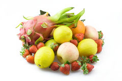 A pile of fruit. A variety of fresh fruit together Royalty Free Stock Photo