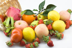 A pile of fruit. A variety of fresh fruit together Royalty Free Stock Image