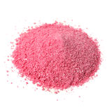Pile of Fruit Juice Powder Concentrate on White. A pile of instant fruit juice powder concentrate isolated on a white background Stock Photos