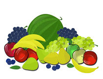Pile of fruit on a transparent background stock images
