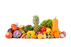 Pile of fruit and vegetables Stock Images