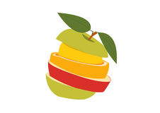 Pile of fruits. 2d design of pile of fruits Stock Image