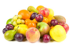 Pile of fruits isolated Stock Photos