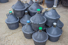 Pile of gallons for water and wine Stock Photos