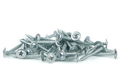 Pile of galvanized screws Royalty Free Stock Photo