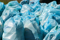 Pile of garbage bags Royalty Free Stock Images
