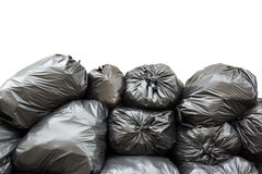 Pile of garbage bags  on white background Stock Images