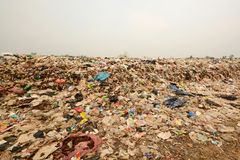 Pile of Garbage in the North East region of Thailand,In the dump Stock Images