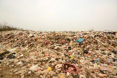 Pile of Garbage in the North East region of Thailand,In the dump Royalty Free Stock Image