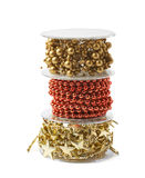 Pile of garland reels isolated Stock Photos