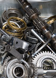 Pile of gearbox parts Royalty Free Stock Images