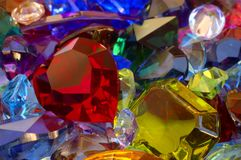 Pile of gems Stock Images