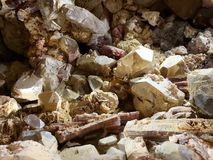 Pile of Gems. A pile of rocks and gems stacked together stock images