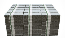 Pile Generic Blank Bank Notes Stock Image