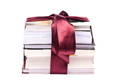 Pile of gift books tied up with a ribbon Royalty Free Stock Image