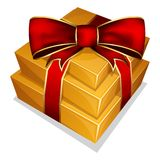 Pile gift box with bow Stock Image