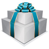 Pile gift box with bow Stock Photos