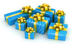 Pile of gift boxes Royalty Free Stock Photos