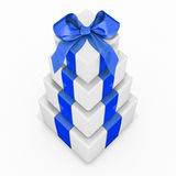 Pile of gift boxes Royalty Free Stock Photography