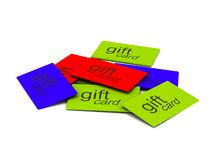 Pile of gift cards stock illustration