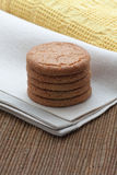 Pile of ginger biscuits Stock Photography